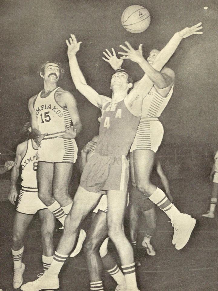 1973, Κύπελλα Ευρώπης / αγώνες μπάσκετ Ελληνικών Ομάδων.