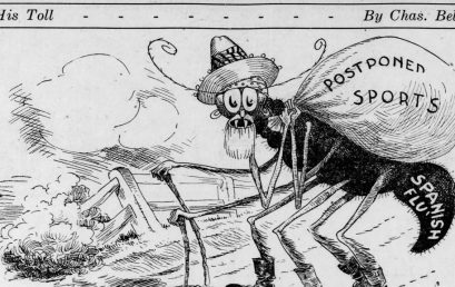 Cartoons from 1918 show the last time Americans went without sports